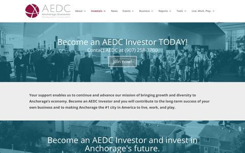 Screenshot of Signup Page aedcweb.com - Join AEDC   Become an AEDC Investor & advance our mission of economic growth - captured Oct. 3, 2018