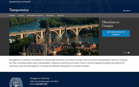 Transportation | Georgetown University