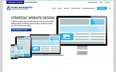 Creative Web Design 123 | WordPress Web Design | Toronto | SEO