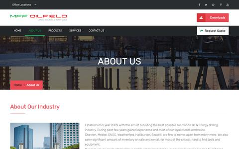 Screenshot of About Page mff-intl.com - MFF Oilfield - captured Oct. 1, 2018