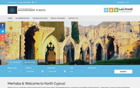 Screenshot of Home Page north-cyprus.travel - North Cyprus Travel | Kyrenia Hotels | Nicosia Hotels | Famagusta Hotels - captured Oct. 23, 2018