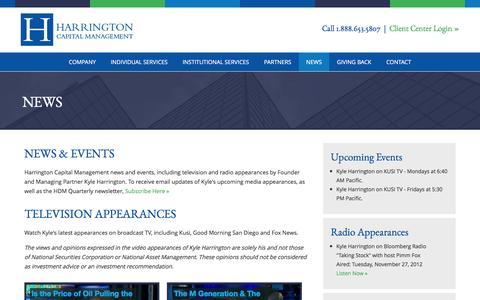 Screenshot of Press Page hc-mgmt.com - Harrington Capital Management   News - captured Jan. 26, 2016