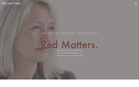 Screenshot of Home Page redmatters.se - RED MATTERS - captured Feb. 8, 2018