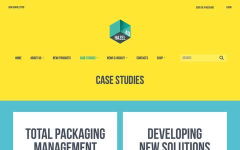 Screenshot of Case Studies Page hazel4d.com - Hazel 4D | Total Packaging Management Case Studies - captured May 15, 2017
