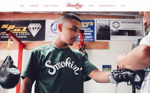 Screenshot of Home Page deadlineltd.com - Deadline Ltd. | Streetwear, Streetwear Clothing, Accessories - captured Oct. 16, 2015