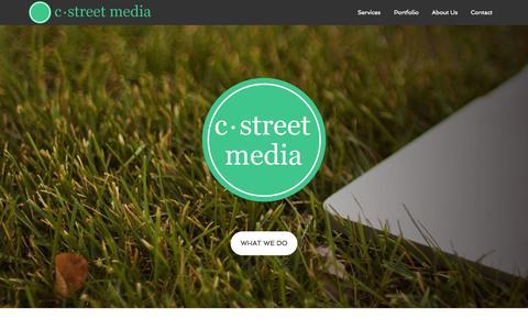 Screenshot of Home Page cstreetmedia.com - C·Street Media - Where Big Agency Results Meet Small Business Budgets - captured June 18, 2015