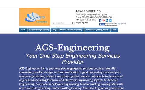 Screenshot of Home Page ags-engineering.com - Engineering Design | Uptown | AGS-Engineering Services - captured Oct. 2, 2018