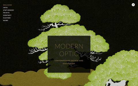 Screenshot of Home Page modern-optic.com - MODERN OPTIC - captured Jan. 30, 2015