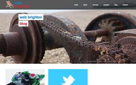 Screenshot of Blog web-brighton.co.uk - Web Brighton | Blog - captured Oct. 26, 2014