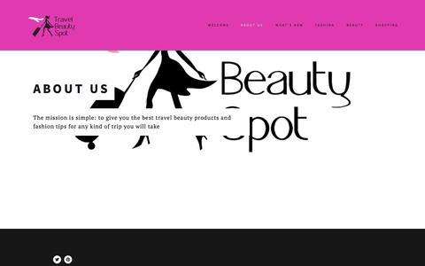 Screenshot of Menu Page travelbeautyspot.com - About us — Travel Beauty Spot - captured Oct. 7, 2014