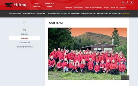 Screenshot of Team Page elding.is - Our team | Elding - Hvalaskoðun - captured Dec. 8, 2015
