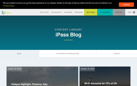 Screenshot of Blog ipass.com - Blog - iPass - captured Nov. 6, 2018