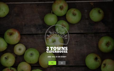 Screenshot of Site Map Page 2townsciderhouse.com - Sitemap - 2 Towns Ciderhouse - captured Sept. 20, 2018