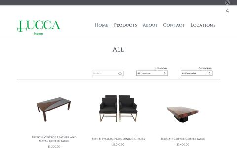Screenshot of Products Page Locations Page luccaantiques.com - Lucca Antiques - All - captured May 22, 2017