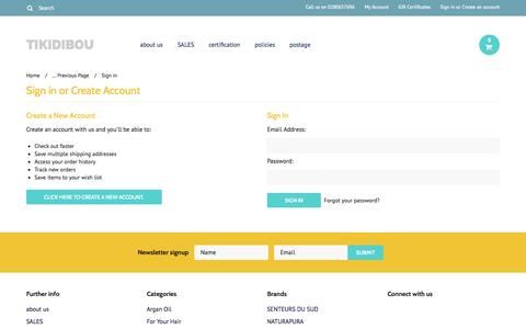 Screenshot of Login Page mybigcommerce.com - TIKIDIBOU - Sign in - captured Sept. 18, 2014