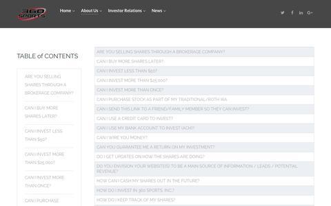 Screenshot of FAQ Page 360sportsmanagement.com - FAQ - captured Oct. 12, 2017
