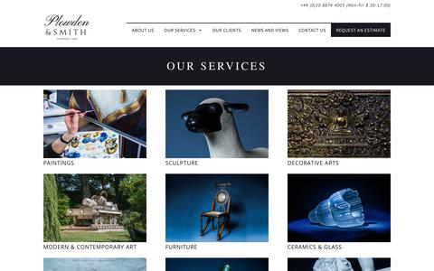 Screenshot of Services Page plowden-smith.com - Services - Plowden & Smith - captured Aug. 10, 2017