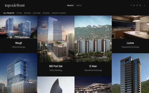 Screenshot of Home Page topsidefront.com - topsidefront   Architectural Visualization - captured Aug. 13, 2015
