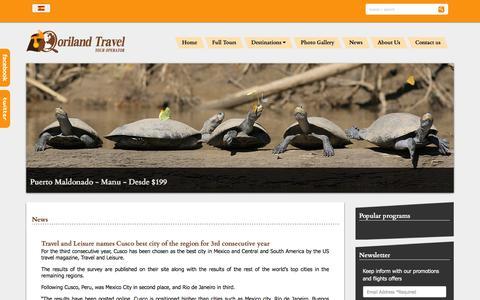 Screenshot of Press Page qorilandtravel.com - News - captured Dec. 4, 2015