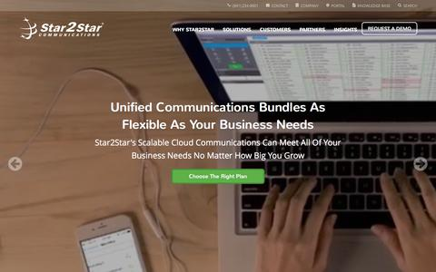 Screenshot of Home Page star2star.com - Star2Star: World's Most Scalable Cloud Communications Solution - captured Feb. 21, 2016