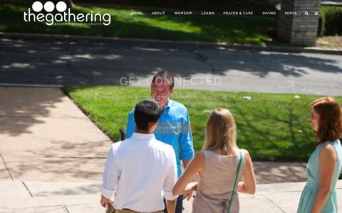 Screenshot of Home Page gatheringnow.org - The Gathering | Christian Community Compelling For New Generations In STL - captured June 20, 2015