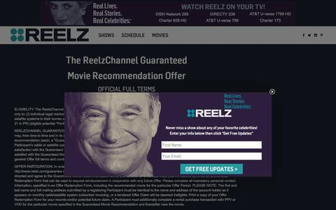 Screenshot of Terms Page reelz.com - Terms of Use - REELZChannel - captured Dec. 5, 2016