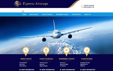 Screenshot of About Page express-airways.com - Home - captured Oct. 3, 2014