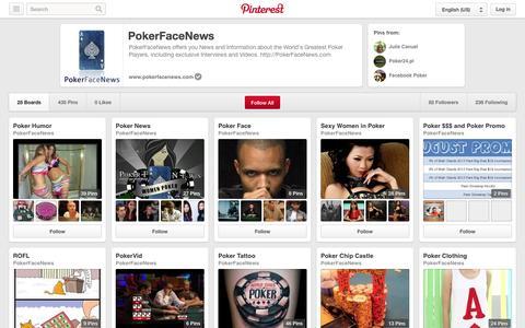 Screenshot of Pinterest Page pinterest.com - PokerFaceNews on Pinterest - captured Oct. 22, 2014