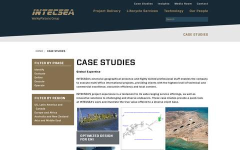 Screenshot of Case Studies Page intecsea.com - INTECSEA - Case Studies - captured Nov. 19, 2016