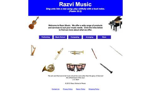 Screenshot of Home Page razvimusic.com - Home - captured Oct. 6, 2014