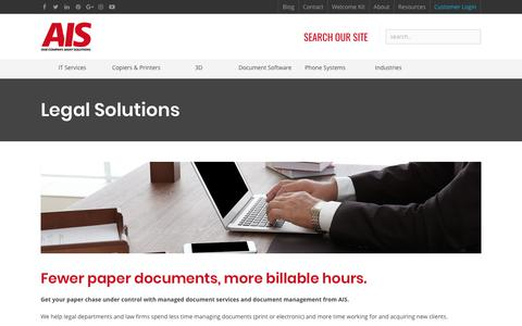 Screenshot of Terms Page ais-now.com - Less Paper Equals More Billable Hours | AIS | Las Vegas - captured Oct. 7, 2017