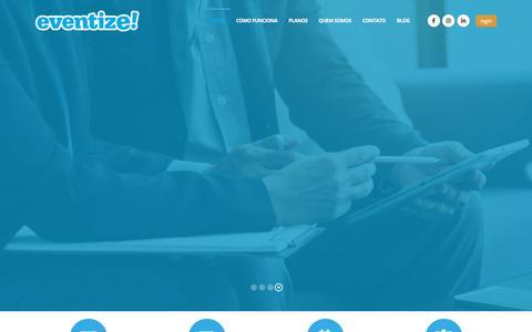 Screenshot of Home Page eventize.com.br - eventize! - captured Oct. 13, 2019