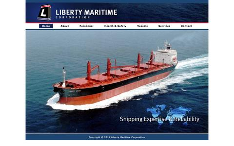 Screenshot of Home Page libertymar.com - Liberty Maritime | Corporation - captured Oct. 2, 2014