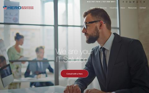 Screenshot of Home Page heromanaged.com - Managed IT Service Provider - captured Nov. 20, 2016