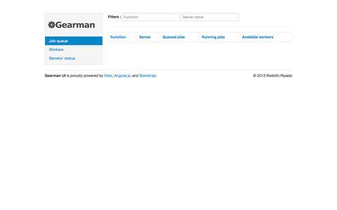Screenshot of birdfolio.com - Gearman UI - captured Oct. 10, 2017