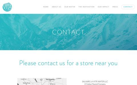 Screenshot of Contact Page vitawater.org - CONTACT — VITA WATER - captured Nov. 19, 2016