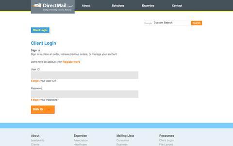DirectMail.com™ - Client Login
