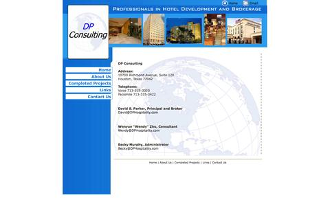 Screenshot of Contact Page dpconsultingusa.com - DP Consulting, Hotel Management and Consulting, Hospitality Services - captured Sept. 30, 2014