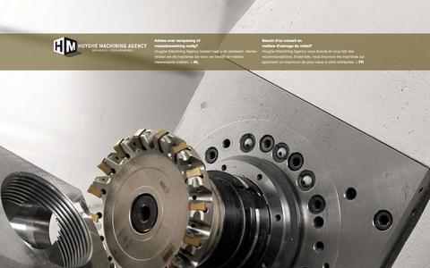 Screenshot of Home Page huyghemachiningagency.be - Welkom | Bienvenu |  Huyghe Machining Agency - captured Sept. 30, 2014