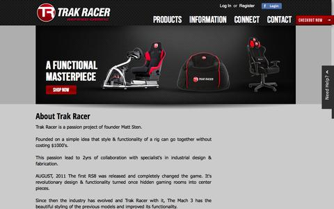 Screenshot of About Page trakracer.com.au - About TR - captured Sept. 30, 2014