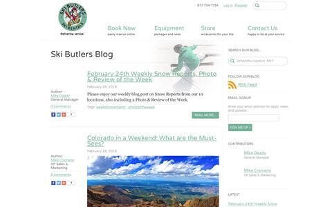 Blog | Ski Butlers