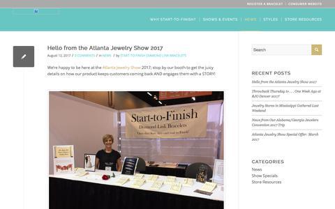 Screenshot of Press Page start-to-finishbracelets.com - News - Start to Finish Bracelets - captured Oct. 24, 2017