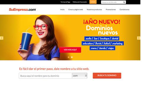 Screenshot of Home Page suempresa.com - SuEmpresa.com - captured Jan. 22, 2015