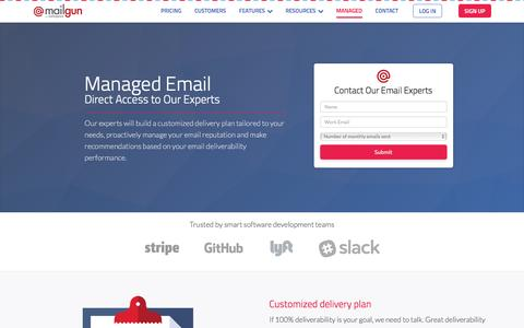 Managed email deliverability, reputation & inbox placement consulting - Mailgun