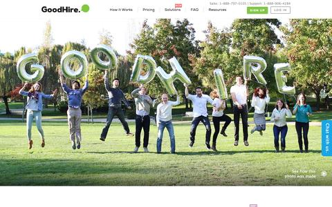 Screenshot of About Page goodhire.com - About GoodHire   GoodHire - captured Dec. 6, 2015