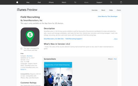 Field Recruiting on the App Store