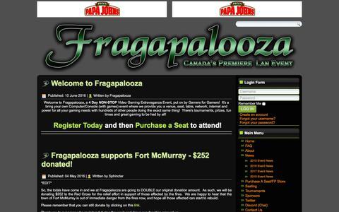 Screenshot of Press Page fragapalooza.com - Fragapalooza - News - captured Jan. 11, 2018