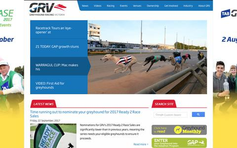 Screenshot of Press Page grv.org.au - Greyhound Racing News | Latest news straight from the track | GRV - captured Sept. 23, 2017