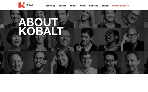 Screenshot of About Page kobaltmusic.com - About | Kobalt - captured Sept. 27, 2015