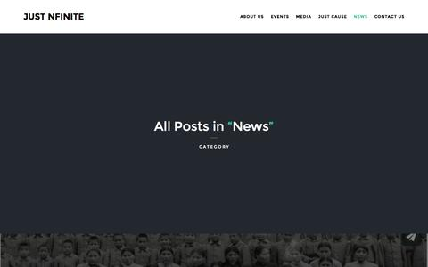 Screenshot of Press Page justnfinite.com - News | Just Nfinite - captured Oct. 29, 2014